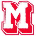 シニール5.5inch角型「M」影つき:白×赤/オフ白/赤 ランクA