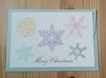 封筒セット 雪の結晶