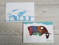 postcard 雪山と丑/年賀 よこ版