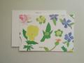 postcard へびいちご/spring flowers