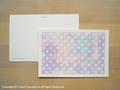 postcard 水玉マーブル/dotmarble