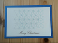 封筒セット 麻の葉ブルーシルバ