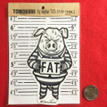 Pig MugShot 『FAT』 ステッカー