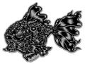 『Black GoldFish』ステッカー