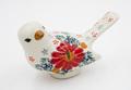 ポーランド産・小鳥の陶製置物 [136g]