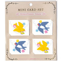 <GS>ミニメッセージカード!ツバメと黄色い小鳥