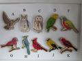 ウッドボタン!鳥5種セット