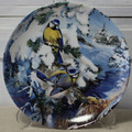 <HUTSCHENREUTHER>飾り皿!冬の小鳥・アオガラ(四十雀)