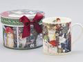 <あまの>ギフトボックス付マグカップ!クリスマスキャット