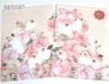 クリアファイル ピンクのバラと白文鳥