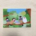 ポストカード 森文鳥
