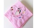 タオルハンカチ「文鳥とハート」ピンク