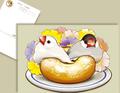 文鳥とドーナツのポストカード
