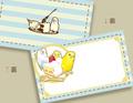 セキセイ×ケーキのメッセージカード