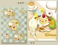 ケーキを囲む鳥さんのクリアファイル