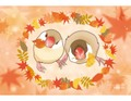 ポストカード Autumn bun-bun