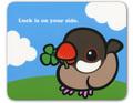 マウスパッド クローバー シナモン文鳥