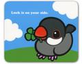 マウスパッド クローバー シルバー文鳥