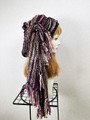 1871 布巻き帽:織り巻き紫