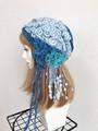 1643 布巻帽:海と波