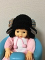 1474 赤ちゃん用★羊の耳あて帽子★クー糸バージョン