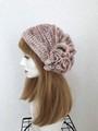 1750 夏用ショートからロング帽子ターバン:淡ピンク系①