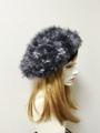 1448 ファーベレー帽:黒灰
