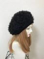 1699 ファーベレー帽:黒 ★大きなサイズ