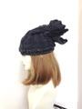 1239 無造作結びの縄編み帽子