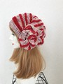 1751 夏用ショートからロング帽子ターバン:淡ピンク系②