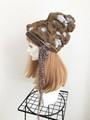 1628 ぷくぷく水玉のリバーシブルボリュームニット帽