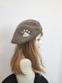 1555 肉球ベレー帽(3色あります。)