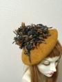 1398 ポンポンベレー帽:からし