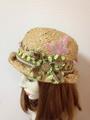 1085 四葉のクローバーと蝶々のささやかな帽子