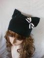 猫耳帽:ミニリボン
