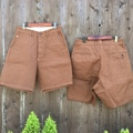 "Anachronorm ""Cotton Herringbone Wide Trouser Shorts"""