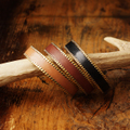 "Y.W of BrownBrown ""Leather Brass Bangle -type A"""