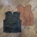 """Gypsy&sons """"Cut Leather Farm Vest"""""""