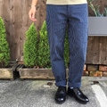 "H.UNIT STORE LABEL ""Stripe Denim Wide Trousers"""