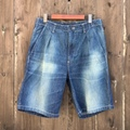 "H.UNIT STORE LABEL ""Denim Tuck Strap Shorts"""