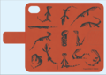 グールドモニター手帳型iPhoneケース 6,6s,7用 オレンジ