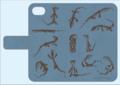 グールドモニター手帳型iPhoneケース 6,6s,7用 ブルー