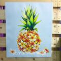 【新作追加】YUKI BOARD WORKSさんのチョークアート・キャンバスプリント Pinapple Plumeria (The Original Version)