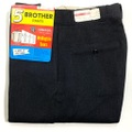"""60s """"W30"""" 5 BROTHER DEAD STOCK BLACK COTTON WHIP. WORK PANTS."""