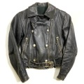 40s LEATHER TOGS HORSE HIDE RIDERS JACKET.