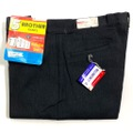 """60s """"W38"""" 5 BROTHER DEAD STOCK BLACK COTTON WHIP. WORK PANTS."""