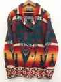 "80s RALPH LAUREN. ""COUNTRY"" NATIVE PATTERN HAND KNIT JACKET."