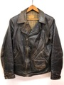 30s MONTGOMERY WARD ADMIRAL BYRD LEATHER SPORTS JACKET.