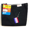 """60s """"W38"""" 5 BROTHER BLACK COTTON WHIP. WORK PANTS."""