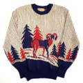50s REVERE JACQUARD KNIT SWEATER.